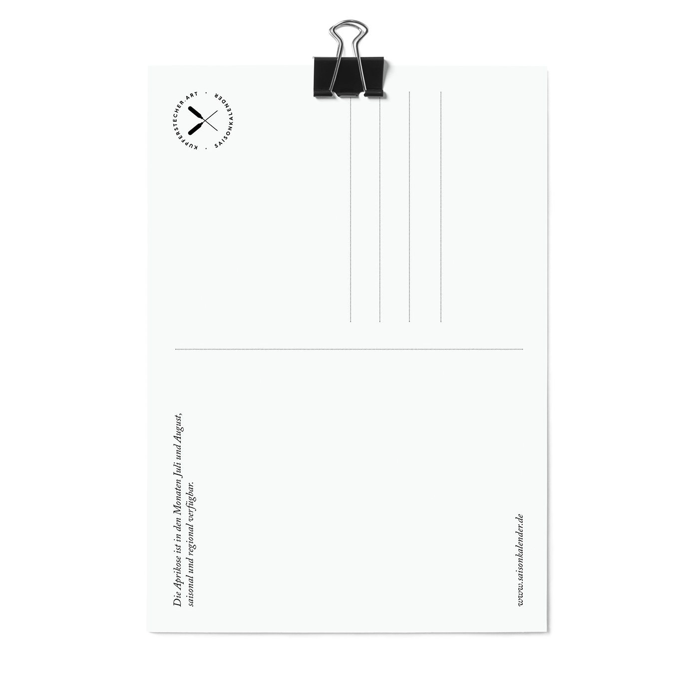 Postkarte, Aprikose