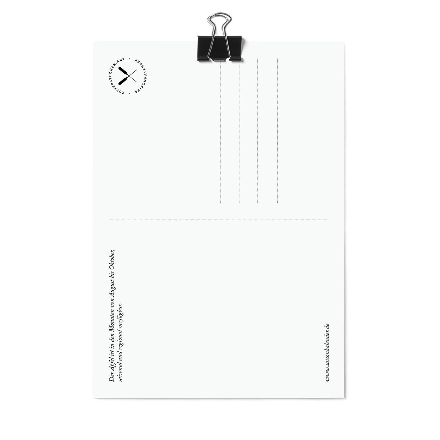 Postkarte, Apfel