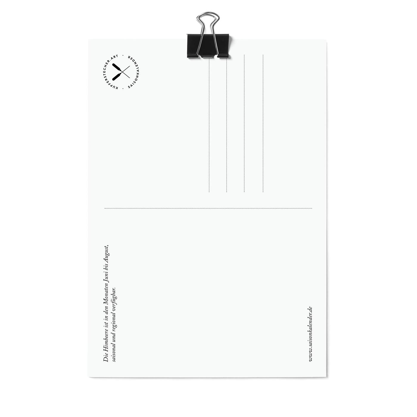 Postkarte,  Himbeere